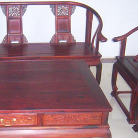 欧洲红酸枝件套椅式艺术八文化古韵九龙沙发老挝皇宫家具图片