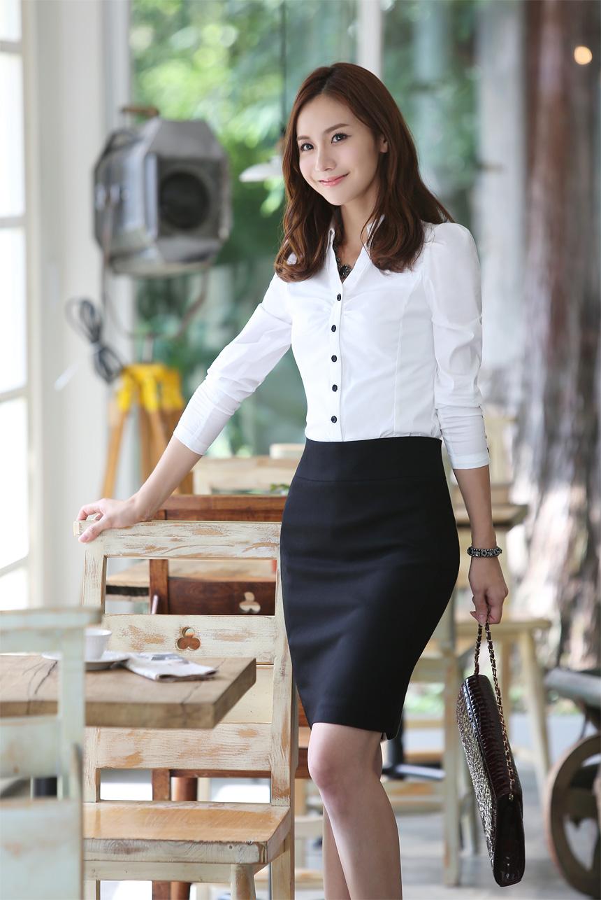 女式衬衫雪纺长袖新款