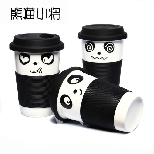 水杯 可爱功夫熊猫杯子马克杯带盖茶杯隔热杯DPBZXMAO3K 马克杯