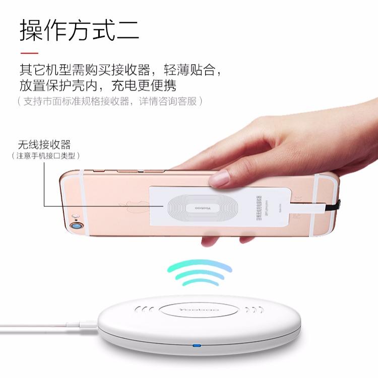 羽博插件充电器手机三星通用安卓苹果s7edgeiphone4sios7无线图片